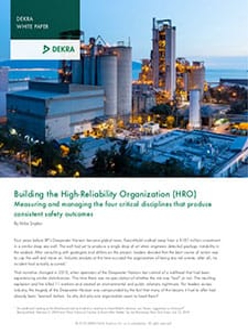 Building the High-Reliability Organization