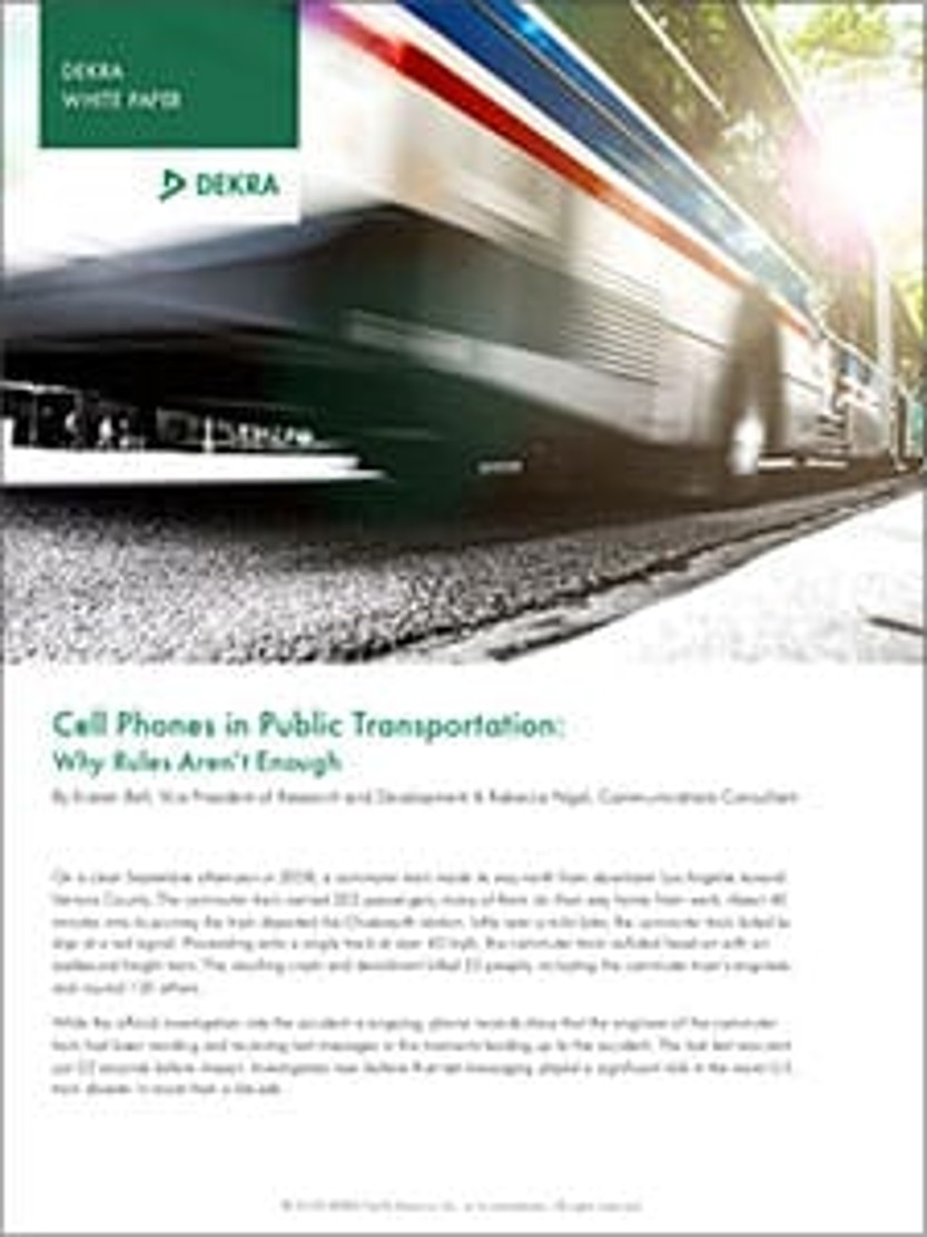 Cell Phones in Public Transportation – Why Rules Aren't Enough