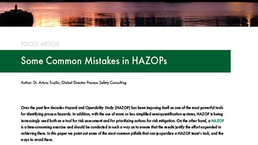 Some Common Mistakes in HAZOPs