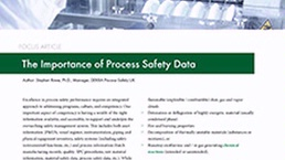 Process Safety Data