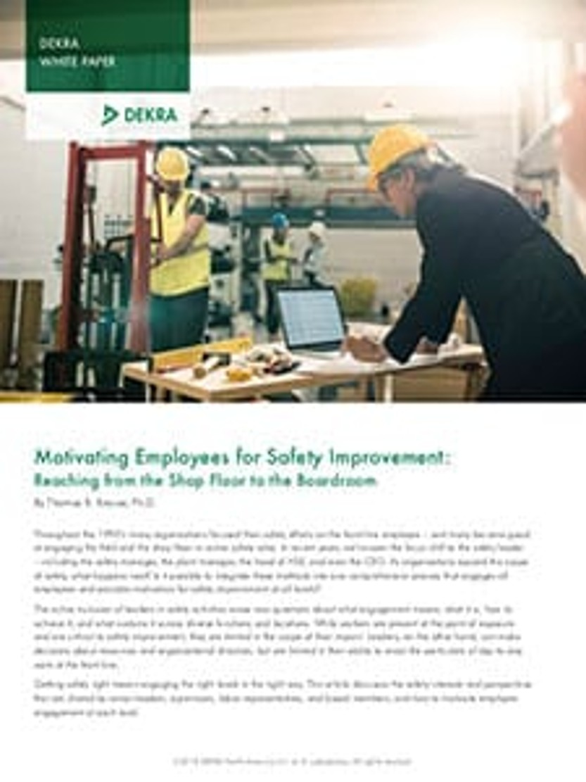 Motivating Employees For Safety Improvement Reaching From The
