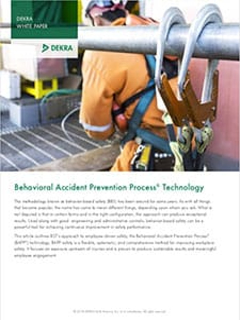 Our Approach to Behavior Based Safety – Behavioral Accident Prevention Process® (BAPP®) Technology