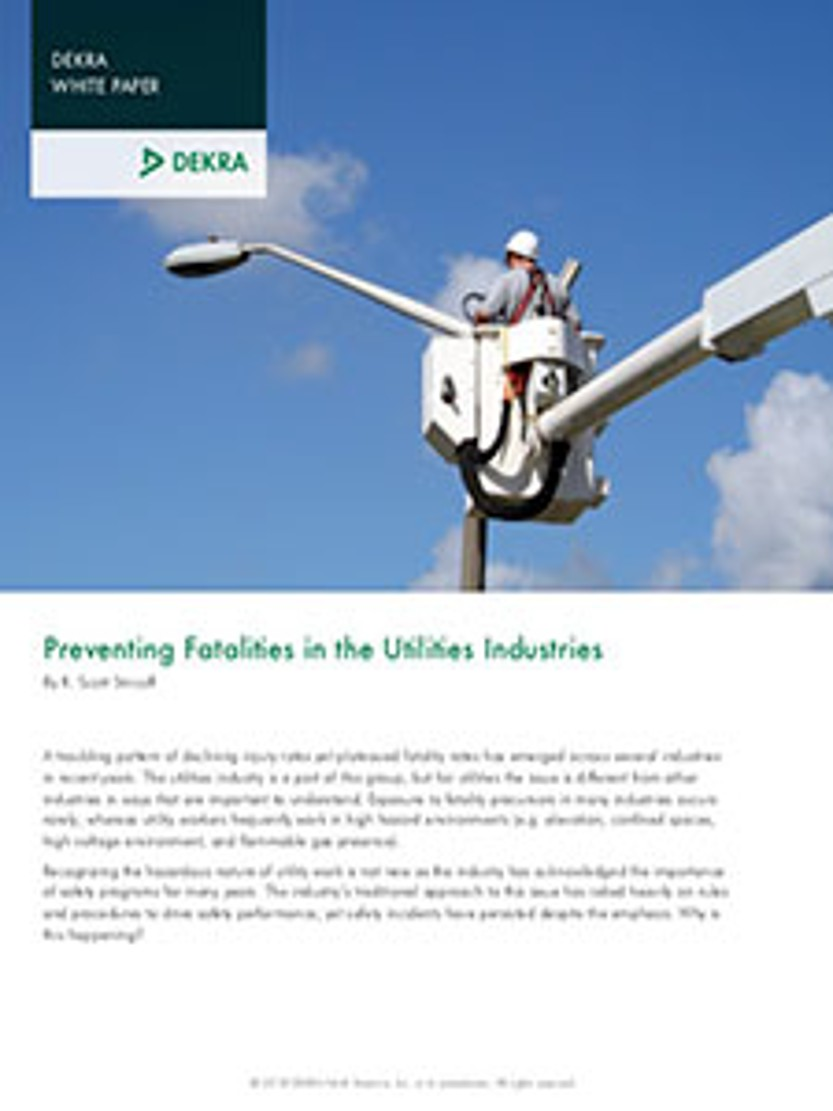 Preventing Fatalities in the Utilities Industries