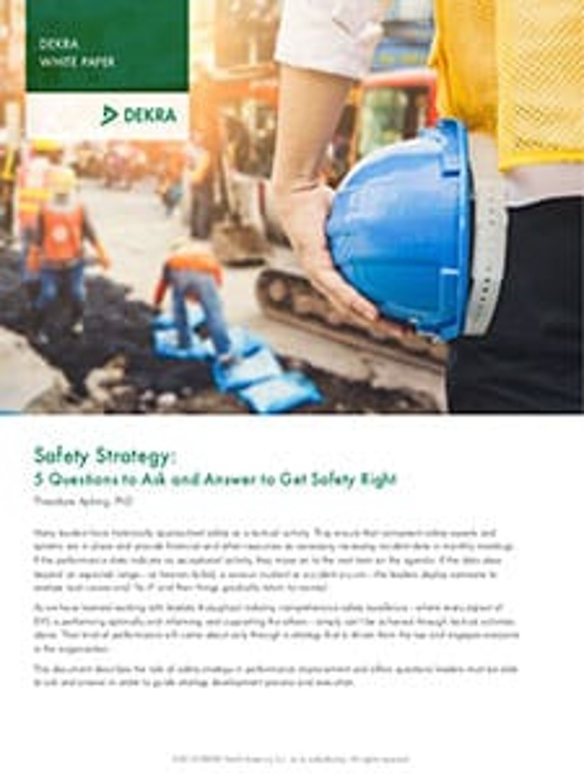 Safety Strategy: 5 Questions to Ask and Answer to Get Safety Right