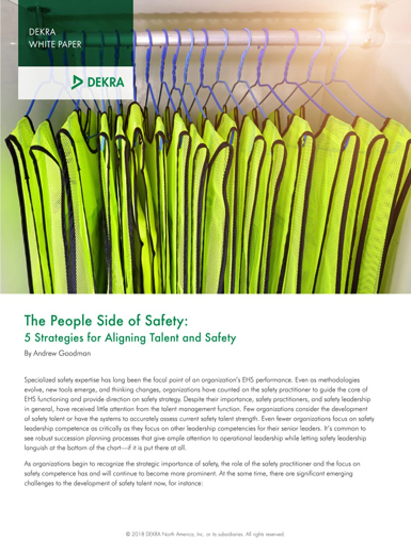 The People Side of Safety Five Strategies for Aligning Talent and Safety