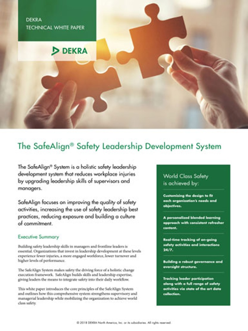 The SafeAlign® Safety Leadership Development System