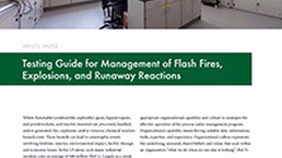 Management of Flash Fires, Explosions, Runaway Reactions